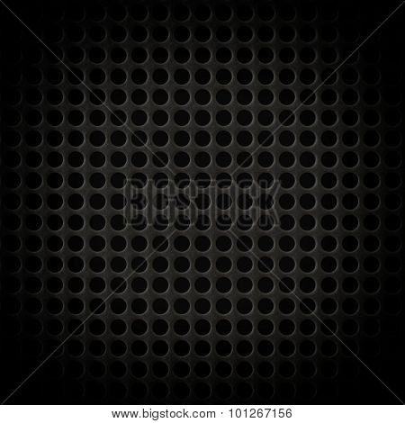 Abstract Steel Or Metal Textured Pattern With Round Cells