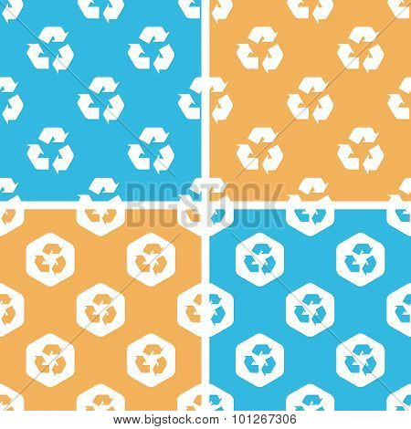 Recycling sign pattern set, colored