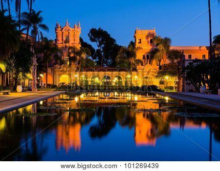 Balboa Park in San Diego California at night