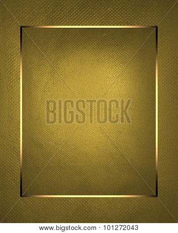 Gold Nameplate Element For Design. Template For Design. Copy Space For Ad Brochure Or Announcement I