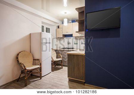 Small kitchenette in a studio