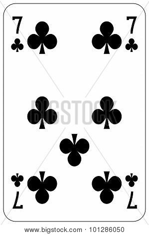 Poker Playing Card 7 Club