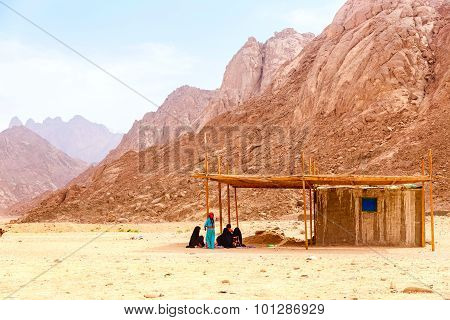 The Bedouin family hiding from the sun