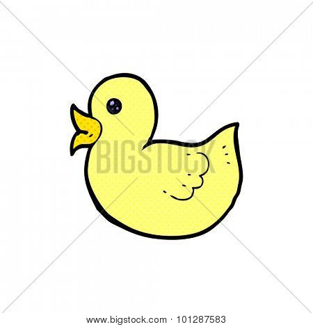comic book style cartoon rubber duck