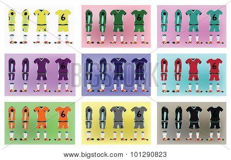 Soccer Uniform Stylish Design.