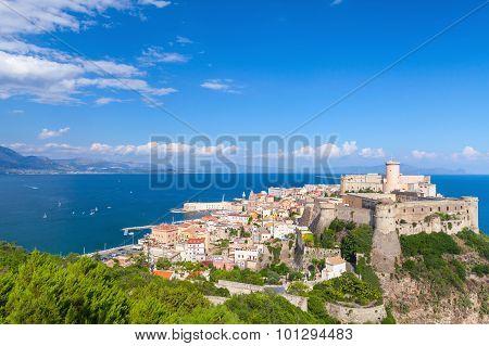 Ancient Aragonese-angevine Castle In Old Gaeta