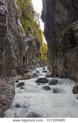 Rocky Gorge Partnachklamm, Germany