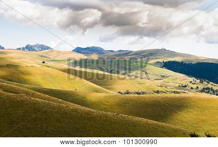 Meadows In The Mountains Create Sinuous Lines.