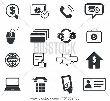 Finance icon set, simple