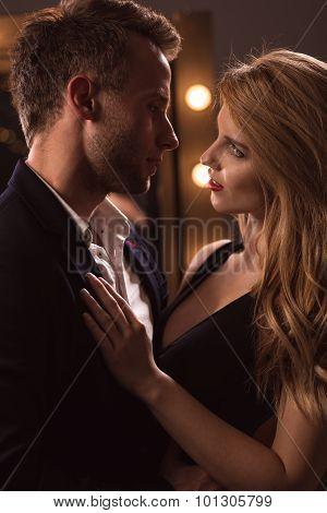 Attractive Woman Seducing Handsome Man