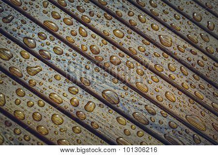 Raindrops On Wood