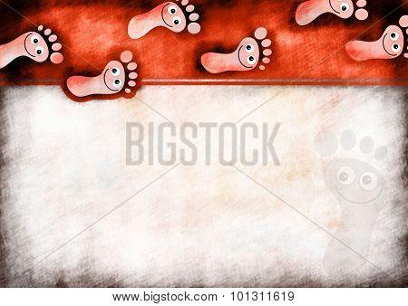Foot Prints Note Paper