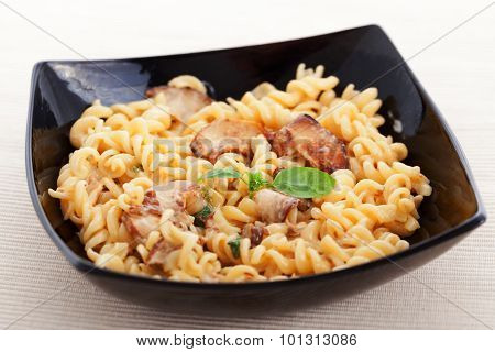 Fusili With Mushrooms