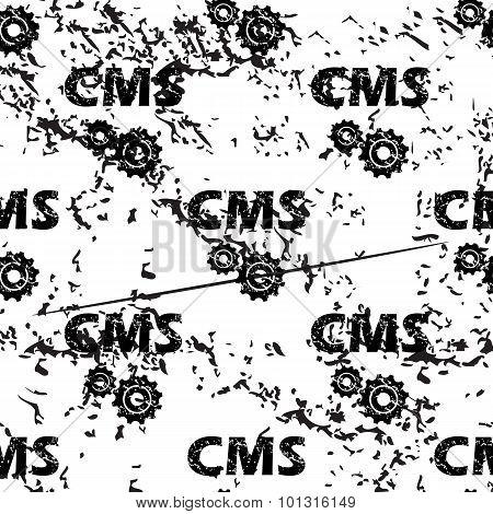 CMS settings pattern, grunge, monochrome