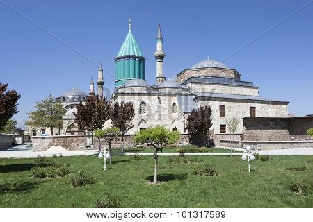 Mausoleum of Mevlana (Rumi) in Konya. Turkey.