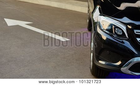 Detail of a beauty and fast sportcar