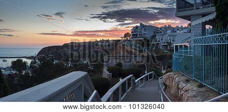 Panorama Dana Point at Sunset