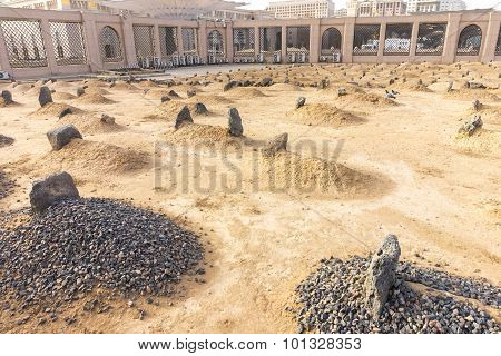 Baqee grave at outside of Nabawi mosque