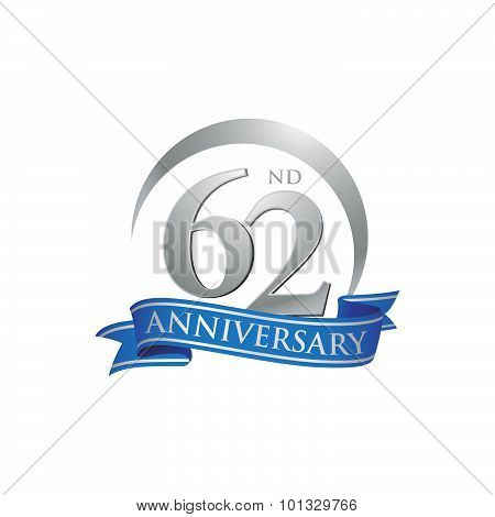 62nd anniversary ring logo blue ribbon