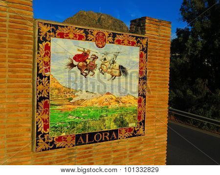 Alora Village Welcome Sign
