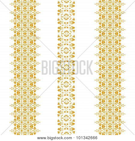 Tribal seamless pattern gold vertical