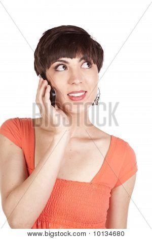 Close Up Woman Talking