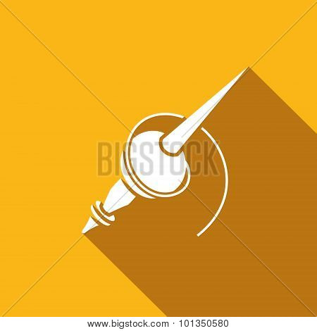 Slavic Traditional Spindle Icon. Vector Illustration