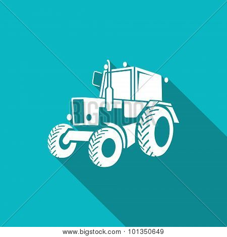 Tractor Icon. Vector Illustration