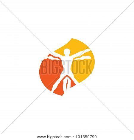 Vetruvian Man Sign. Vector Illustration