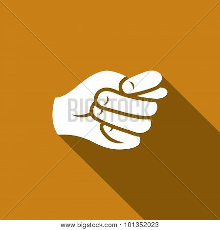 Gesture Fig. Hand Showing A Fig Icon. Vector Illustration.