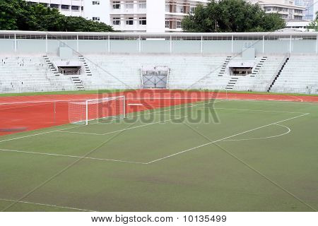 soccer football goal with penalty area