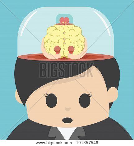 Cartoons Concepts  Mind Control Brain Control Body