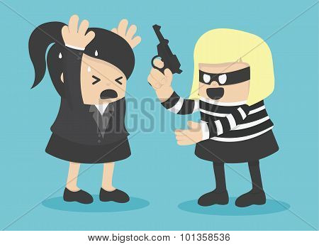 Robbing A Businesswoman