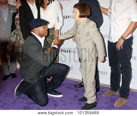 LOS ANGELES - SEP 11:  LL COOL J, Linda Hunt, NCIS LA Cast at the PaleyFest 2015 Fall TV Preview - NCIS: Los Angeles at the Paley Center For Media on September 11, 2015 in Beverly Hills, CA