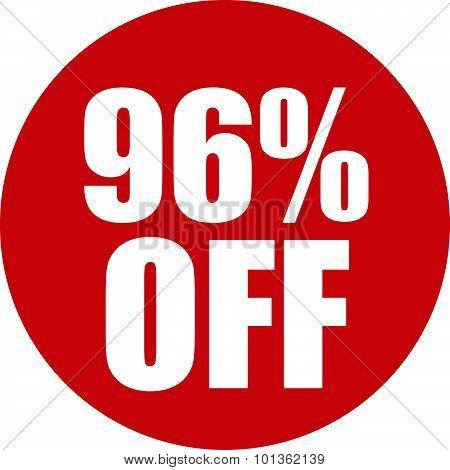 96 Percent Off Icon