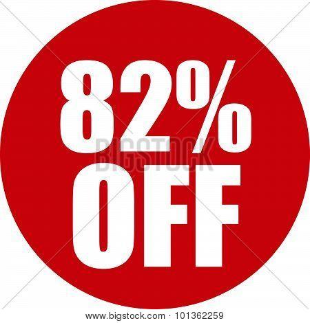 82 Percent Off Icon