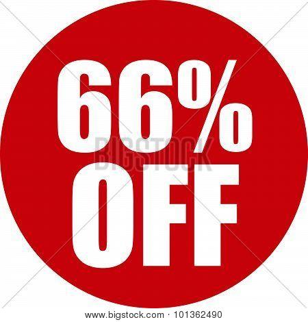 66 Percent Off Icon