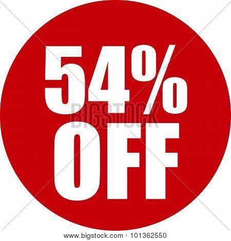 54 Percent Off Icon