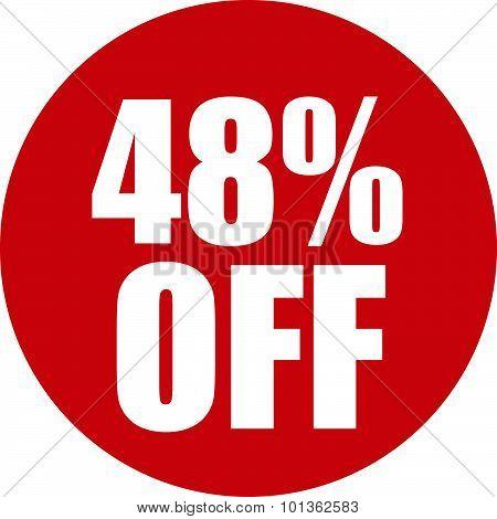 48 Percent Off Icon