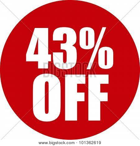43 Percent Off Icon