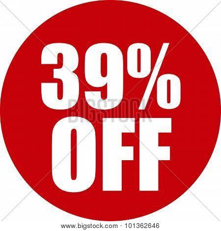 39 Percent Off Icon