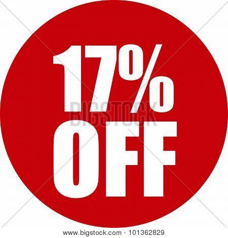 17 Percent Off Icon