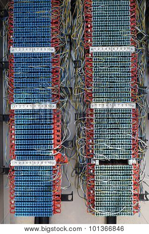 Old Phone Switch Board With Easy To Tap Wires