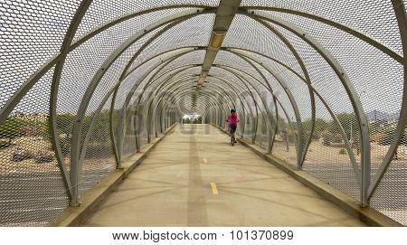Aviation Bikeway And Rattlesnake Bridge, Tucson, Arizona