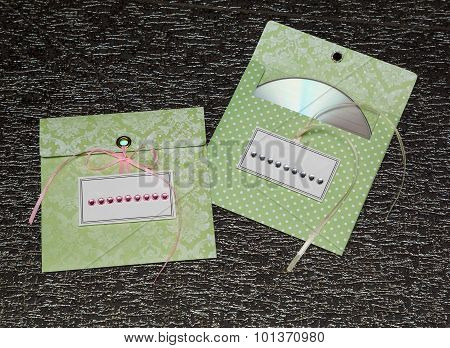 Envelopes For Disks. Black Background