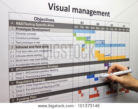 Updating The Project Plan Using Visual Management
