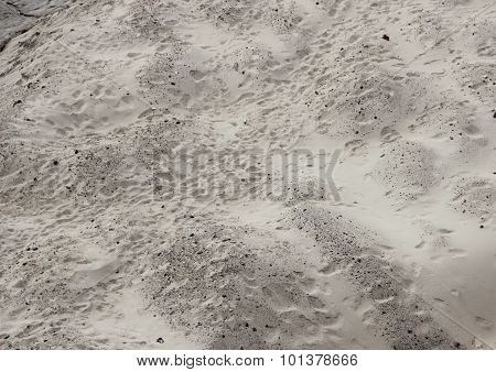 Sand Dune With Unstructured Footprints In Perspective
