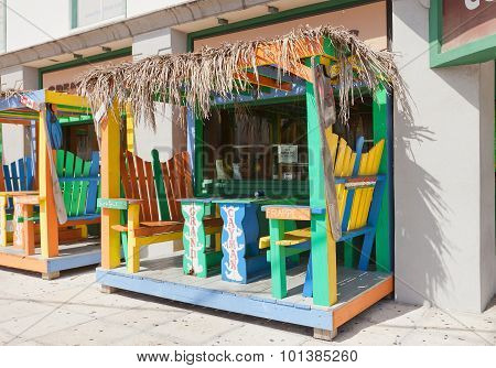 Street Cafe In George Town Of Grand Cayman
