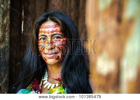 Brazilian Indian in Amazon, Brazil