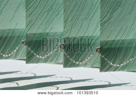Vertical Blinds On The Window